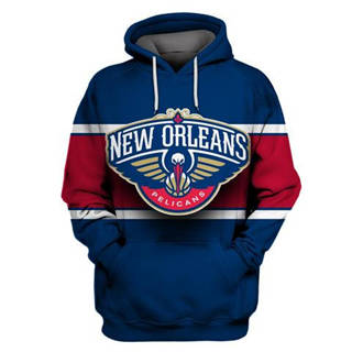 Pelicans Navy All Stitched Hooded Sweatshirt