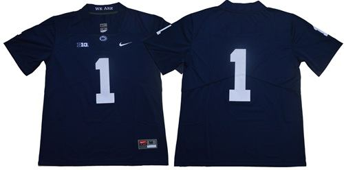 Penn State Nittany Lions #1 Navy Blue Limited Stitched NCAA College Football Jersey