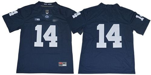 Penn State Nittany Lions #14 Navy Blue Limited Stitched College Football Jersey