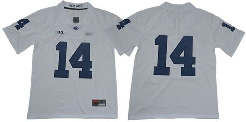 Penn State Nittany Lions #14 White Limited Stitched College Football Jersey