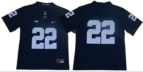 Penn State Nittany Lions #22 Navy Blue Limited Stitched College Football Jersey
