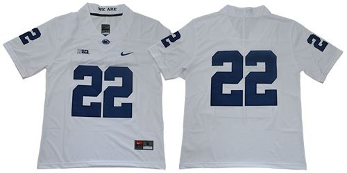 Penn State Nittany Lions #22 White Limited Stitched College Football Jersey