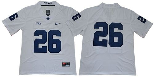 Penn State Nittany Lions #26 Saquon Barkley White Limited Stitched College Football Jersey