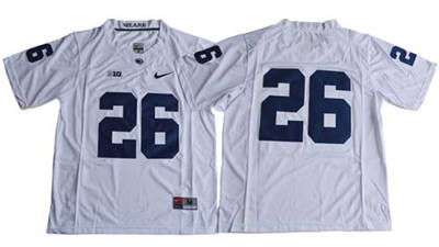 Penn State Nittany Lions #26 Saquon Barkley White Limited Stitched NCAA Jersey