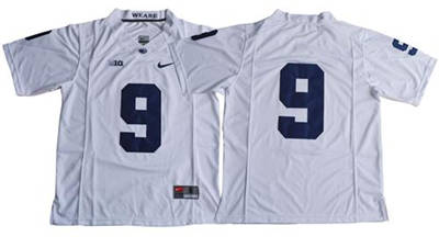 Penn State Nittany Lions #9 Trace McSorley White Limited Stitched NCAA Jersey