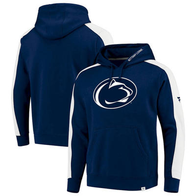 Penn State Nittany Lions Iconic Colorblocked Fleece Pullover Hoodie - Navy