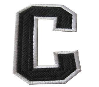 Philadelphia Flyers Captain Black C Patch