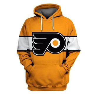 Philadelphia Flyers Gold All Stitched Hooded Sweatshirt