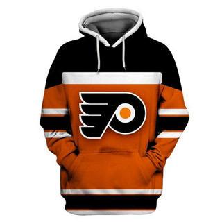 Philadelphia Flyers Orange Black All Stitched Hooded Sweatshirt