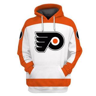 Philadelphia Flyers White All Stitched Hooded Sweatshirt