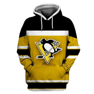 Pittsburgh Penguins Yellow All Stitched Hooded Sweatshirt
