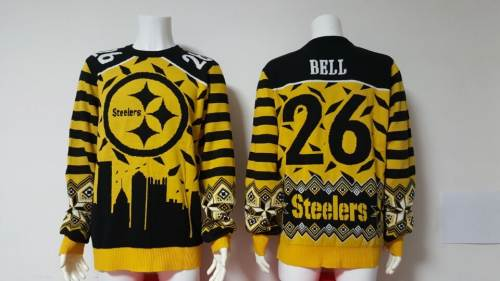 Pittsburgh Steelers #26 Le'Veon Bell Football Ugly Sweater