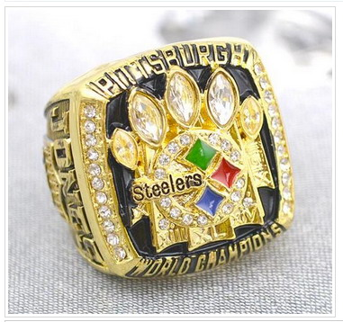 Pittsburgh Steelers Football World Champions Gold Ring