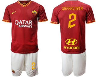 Roma #2 Zappacosta Red Home Soccer Club Jersey