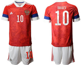 Russia #10 Bakaev Home Soccer Country Jersey