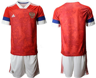 Russia Blank Home Soccer Country Jersey