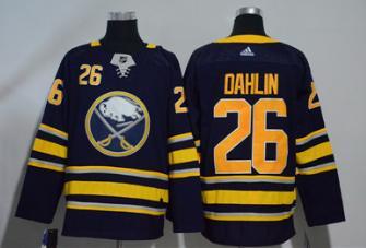 Sabres #26 Rasmus Dahlin Navy  Jersey