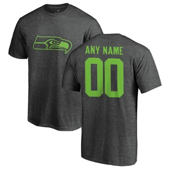 Seattle Seahawks Personalized One Color T-Shirt - Ash