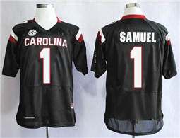 South Carolina Fighting Gamecocks #1 Deebo Samuel Black SEC Patch Stitched NCAA Jersey