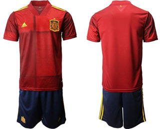 Spain Blank Home Soccer Country Jersey