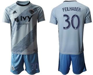 Sporting Kansas City #30 Feilhaber Home Soccer Club Jersey