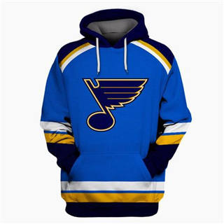 St. Louis Blues Blue All Stitched Hooded Sweatshirt
