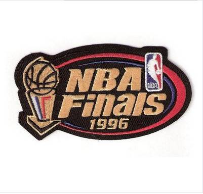 Stitched 1996 Basketball Finals Jersey Patch Chicago Bulls Seattle Super Sonics