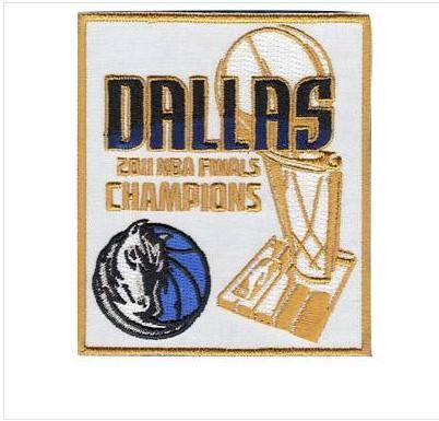 Stitched 2011 Basketball Champions Jersey Patch Dallas Mavericks