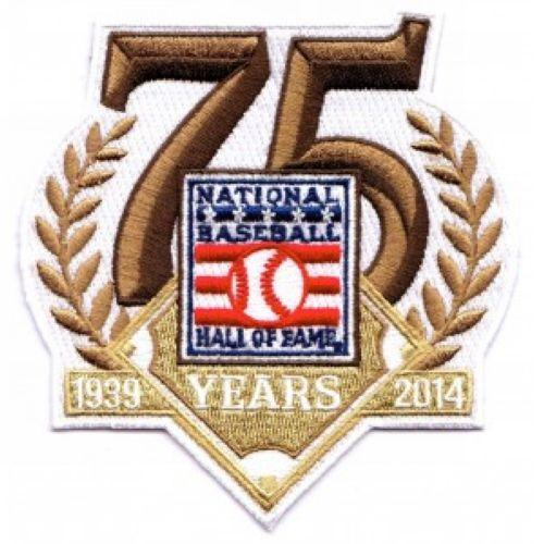 Stitched 2014 National Baseball Hall Of Fame 75th Anniversary Jersey Patch