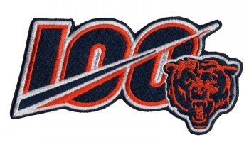 Stitched 2019 Chicago Bears 100th Season Anniversary Patch
