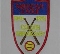 Stitched Baseball American League 1901-1951 Golden Anniversary Jersey Patch