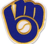 Stitched Baseball Milwaukee Brewers Glove & Ball Retro Logo Patch (White Border)