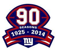 Stitched Football New York Giants 1925-2014 Season Jersey Patch