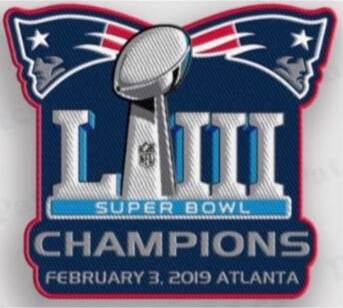 Stitched New England Patriots Super Bowl LIII Champions Jersey Patch