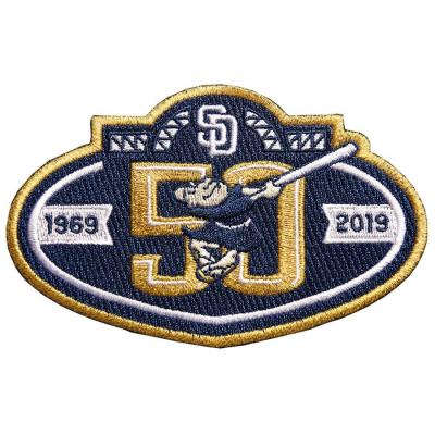 Stitched San Diego Padres 50th Anniversary Navy Patch