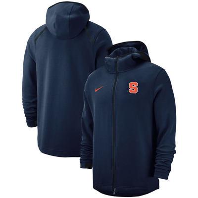 Syracuse Orange 2018-2019 On-Court Basketball Player Showtime Performance Full-Zip Hoodie – Navy