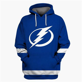 Tampa Bay Lightning Blue All Stitched Hooded Sweatshirt