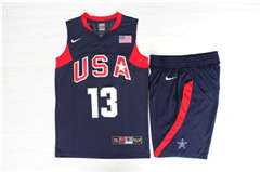 Team USA Basketball #13 Chris Paul Navy  Stitched Jerseys Suit
