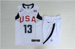Team USA Basketball #13 Chris Paul White  Stitched Jerseys Suit
