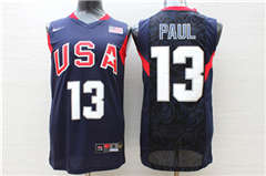 Team USA Basketball 13 Chris Paul Navy  Stitched Jersey