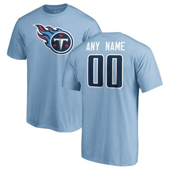 Tennessee Titans Pro Line Personalized Name & Number Logo T-Shirt - Light Blue