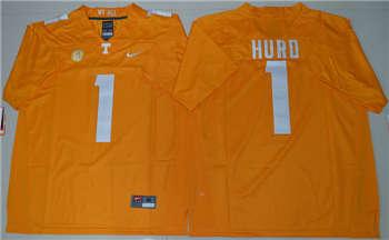 Tennessee Vols #1 Jalen Hurd Dobbs Orange College Football Jersey