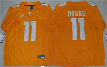 Tennessee Vols #11 Joshua Dobbs Orange College Football Jersey