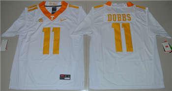 Tennessee Vols #11 Joshua Dobbs White College Football Jersey