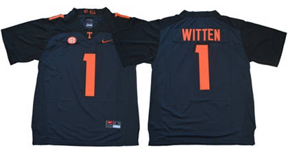 Tennessee Volunteers #1 Jason Witten Grey Limited Stitched NCAA Jersey