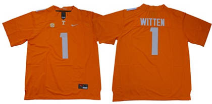 Tennessee Volunteers #1 Jason Witten Orange Limited Stitched NCAA Jersey