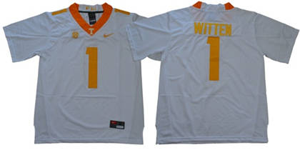 Tennessee Volunteers #1 Jason Witten White Limited Stitched NCAA Jersey