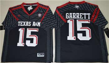 Texas A&M Aggies #15 Myles Garrett Black College Football Jersey