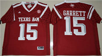 Texas A&M Aggies #15 Myles Garrett Red College Football Jersey