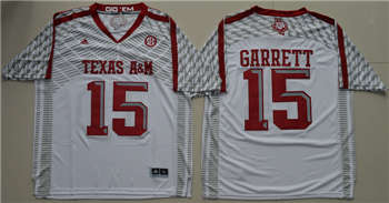 Texas A&M Aggies #15 Myles Garrett White College Football Jersey